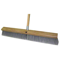 "Abco 3"" Grey Flagged Fine Sweep Push Broom - 24"""