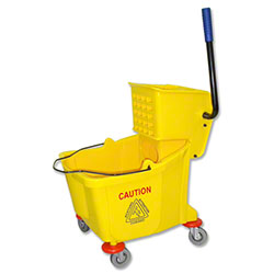 Abco Side Press Wringer Mopping System - 35 Qt., Yellow