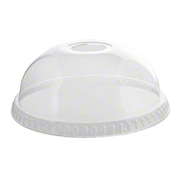 Fineline Settings Super Sips Dome Lid w/Hole fits 12-24 oz.