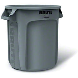 Rubbermaid® BRUTE® Vented Container - 10 Gal., Gray
