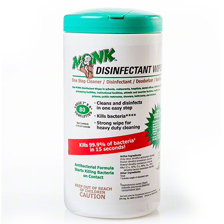 Monk™ Disinfectant Wipe - 80 ct.