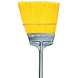 MDB Speedy Corn® Straight Trim Broom -Steel Handle, Yellow