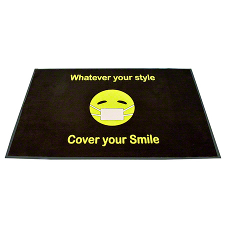 Crown Horizontal Flocked Emoji Floor Mat - 4' x 6'