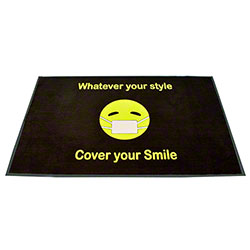 Crown Horizontal Flocked Emoji Floor Mat - 3' x 5'