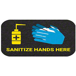 """Sanitize Hand Here"" Floor Sign - 17"" x 24"""