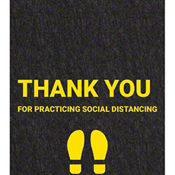 """Thank You For Practicing Social Distancing"" Floor Sign - 17"" x 24"""
