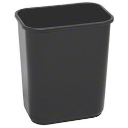 Continental Commercial Plastic Wastebasket -28 1/8 Qt,Black