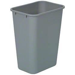 Continental Commercial Plastic Wastebasket -41 1/4 Qt, Grey