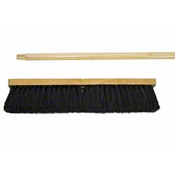 "Norshel 12"" Tampico Sweep w/Threaded Wooden Handle"