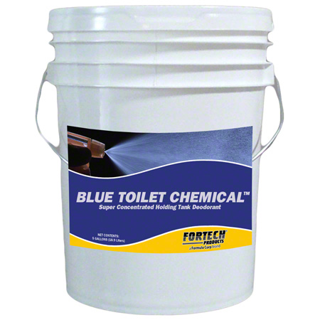 Fortech® Blue Toilet Chemical - 5 Gal. Pail