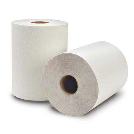 "WausauPaper® EcoSoft™ Roll Towel-8""x425', Natural White"