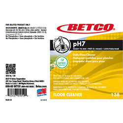Betco® pH7 Neutral Cleaner Label Only