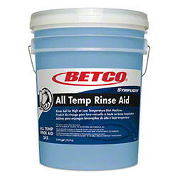 Betco® Symplicity™ All Temp Rinse Aid 315 - 5 Gal. Pail