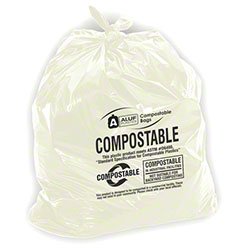 Aluf Compostable Bag - 42 x 48, .85 mil, Natural