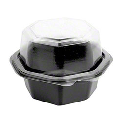 "Dart® Creative Carryouts® OctaView® PS Hinged Lid Container - 4.5"" Deep"