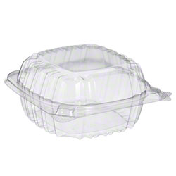 "Dart® ClearSeal® Clear Hinged Lid Container -5"" Sandwich"