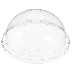 "Dart Clear Dome w/1"" Hole Lid For Cups"