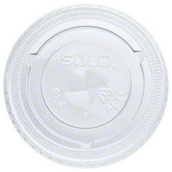 Dart® Clear Straw Slotted Lid For TP7, Y7, P7, P7R