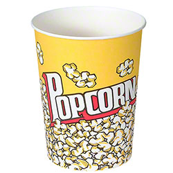 Solo® Grease-Resistant Paper Popcorn Cup - 32 oz.