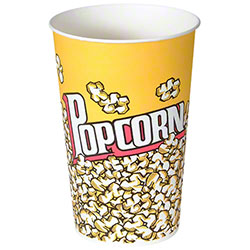 Solo® Grease-Resistant Paper Popcorn Cup - 46 oz.