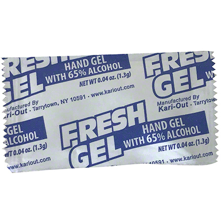 Kari-Out Fresh Gel Sanitizer Pouch w/65% Alcohol - 0.04 oz Net Wt.