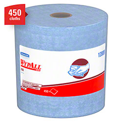 "WypAll® X90 Jumbo Roll Extended Use Reusable Cloth - 11.1"" x 13.4"", Blue Denim"