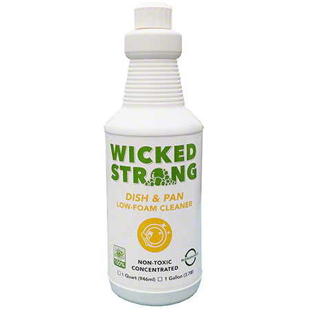 Wicked Strong Dish & Pan Low-Foam Cleaner - Qt.