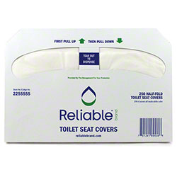 Reliable® White 1/2 Fold Toilet Seat Cover