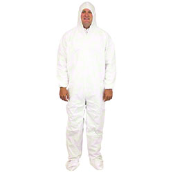 Safety Zone Disposable Polypropylene Coverall w/Hood & Boots