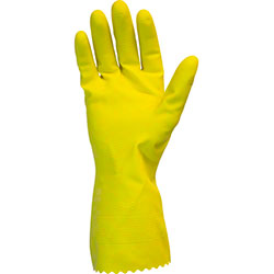 Safety Zone 18 mil Flock Lined Latex Glove - Large