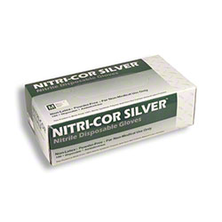 Cordova™ Nitri-Cor Silver Disposable - Large, Powder Free