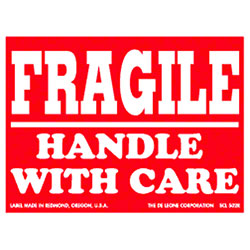 "DeLeone ""Fragile Handle With Care"" Label"