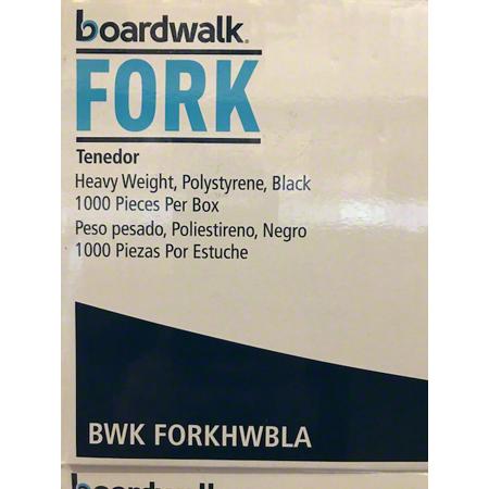 Heavy Weight Polystyrene Black Fork