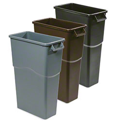 "delamo® Slim ""Mo"" Waste Can - 23 Gal., Black"