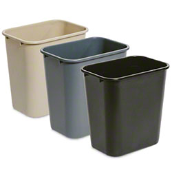 delamo® 28 Qt. Beige Office Wastebasket