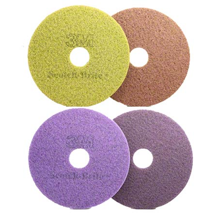 Scotch-Brite® Purple Diamond Floor Pad Plus - 19""