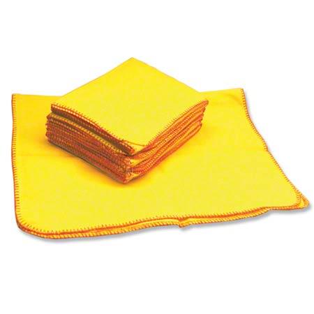 "HOSPECO® Yellow Treated Duster - 18"" x 24"""