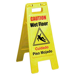 "Impact® ""Caution Wet Floor"" Bilingual Sign"