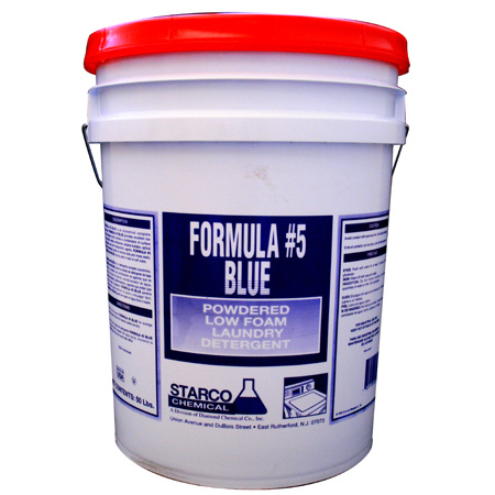 Formula #5 Blue Powdered Low Foam Laundry Detergent - 50 lb.