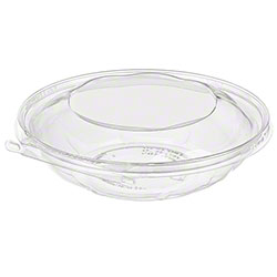 Pack of 2 Plastic Oval Bowl | Clear Pebbled 48 oz