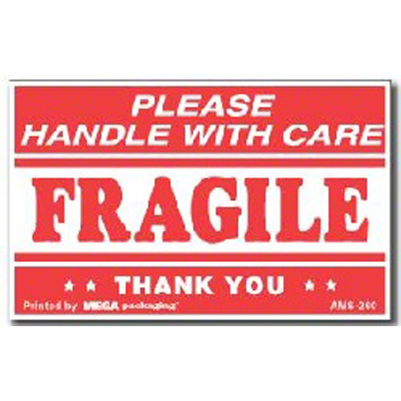 "AMS-260 Fragile HWC Label - 2.5"" x 4"""