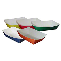Sqp Solid Color Food Tray 100 Red P Amp R Paper Supply Co