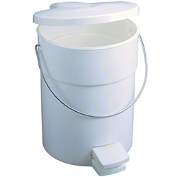 Rubbermaid® Step-On Can w/Rigid Liner - 4 1/2 Gal., White