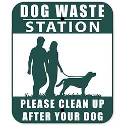 Dog Waste Station Sign