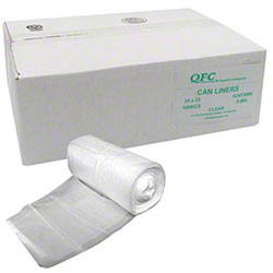 QFC High Density Can Liner - 24 x 33, 8 mic, Clear