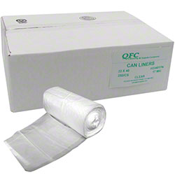 QFC High Density Can Liner - 33 x 40, 17 mic, Clear