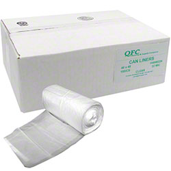 QFC High Density Can Liner - 40 x 48, 22 mic, Clear