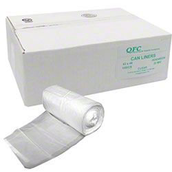 QFC High Density Can Liner - 43 x 48, 22 mic, Clear