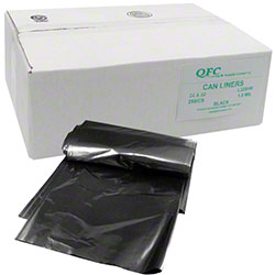 QFC Low Density Can Liner - 24 x 32, 1.0 mil, Black