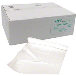 QFC Low Density Can Liner - 30 x 36, .75 mil, White